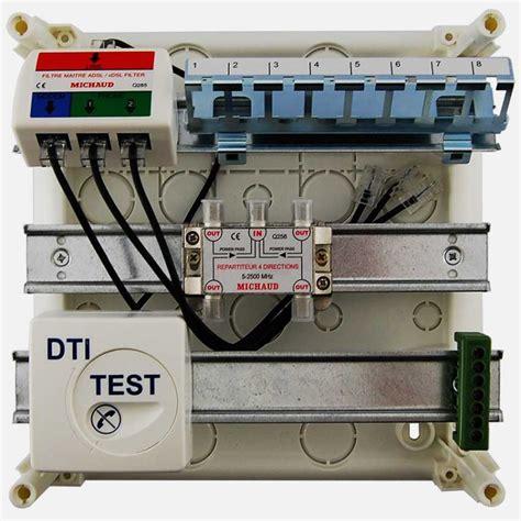 Coffret De Communication Coffret De Communication Q217 Grade 1 4 Rj45 Tv Coax Michaud