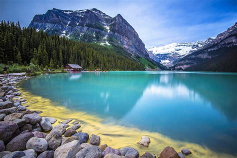 nature, Beauty, Blue, Water, Forest, House, Lake ...