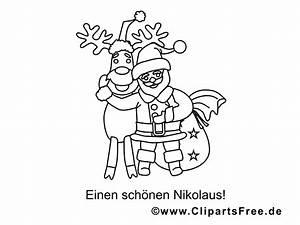 Nikolaus Rentier Ausmalbilder Fr Kinder Kostenlos Ausdrucken