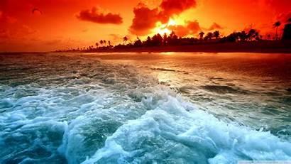 Tropical Sunset Beach Beaches Ocean Sunsets Desktop
