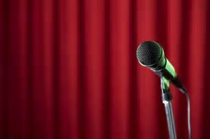 Red Curtain with Microphone