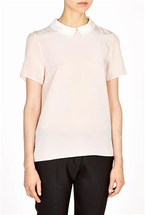 collar blouse marc by marc alex silk pan collar blouse