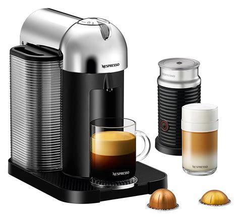 capsule nespresso vertuo nespresso vertuo coffee and espresso machine by breville with aeroccino chrome