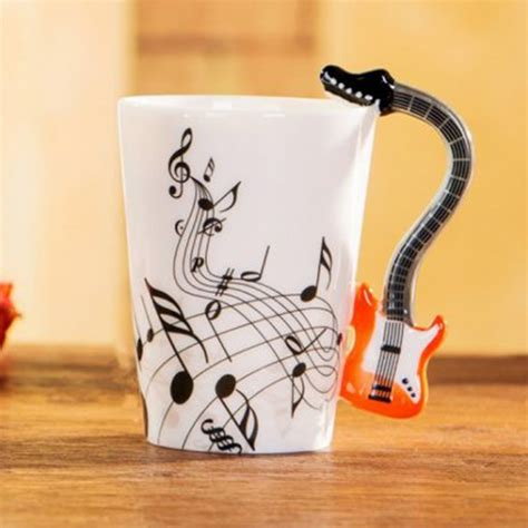 Select your coffee mug set based on your current kitchen appliance themes and how many people are in your household. Buy Guitar Coffee Mug Online in India   BonZeal.com