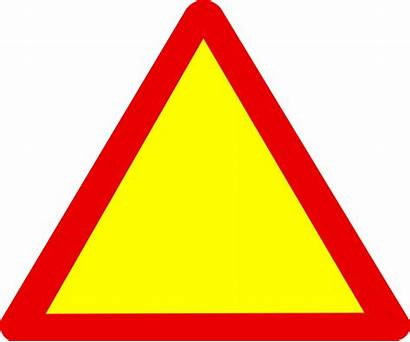 Triangle Warning Sign Caution Blank Clipart Road