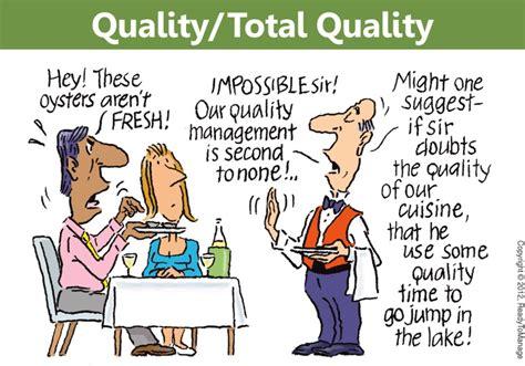 total quality management cartoon management process