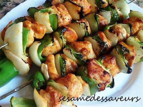 cuisine marocaine classement recettes de brochettes de poulet de le sésame des saveurs