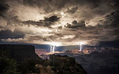 Canyon Lightning Grand Wallpapers Strike Strikes Desktop