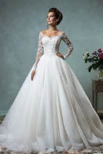 the shoulder wedding dress with lace sleeves top 100 most popular wedding dresses in 2015 part 1 gown a line bridal gown silhouettes