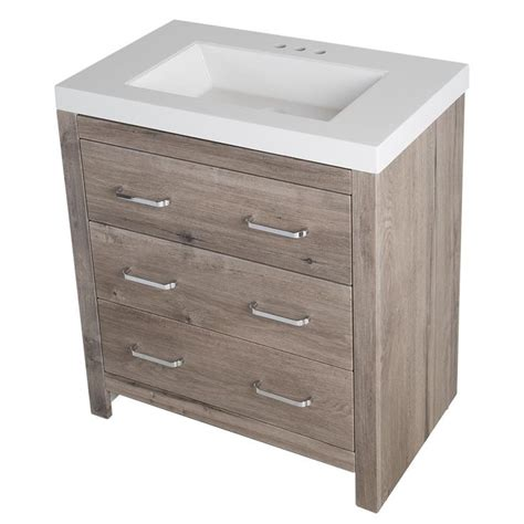 white bathroom vanity home depot glacier bay woodbrook 30 5 in w vanity in white washed