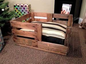 hand crafted retired produce crate dog bed by natural wood With dog beds and crates