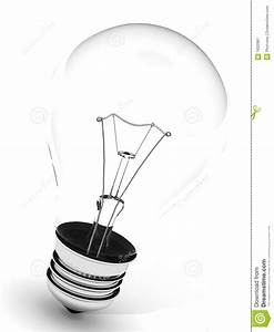 Light Bulb On White Background Stock Illustration - Image ...