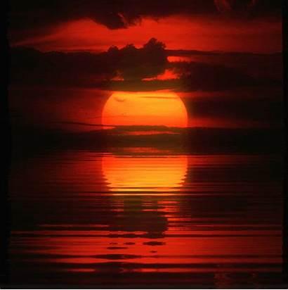 Sunset Animated Lake Sun Animation Reflection Nature