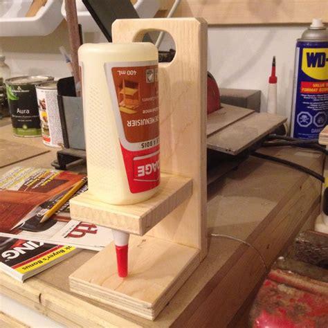 glue bottle holder   woodworking glue bottle