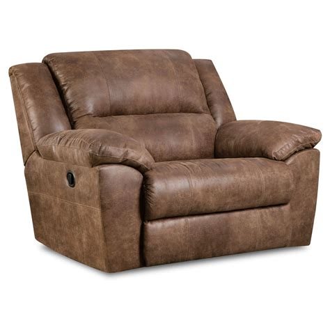 Oversized Recliners by Simmons Upholstery Cuddler Recliner Mocha