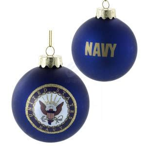 u s navy blue glass 80 mm two sided ball ornaments