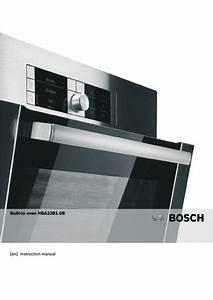 Bosch Hbh3601 Single Multi-function Oven Manuals