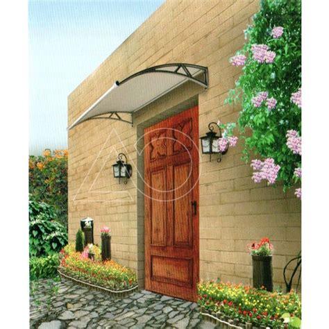 Durvju jumtiņš ar tekni (6x930x1500 mm) caurspīdīgs, melni ...