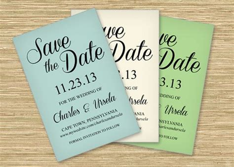 microsoft word save  date templates perfect