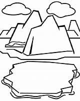 Coloring Iceberg Glacier Drawing Crayola Clipart Montagne Cricut Clip Polar Regions Glaciers Arctic Cliparts Cards Amp Sheets Getdrawings Colorear Norte sketch template