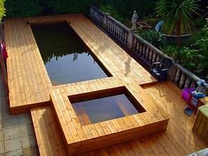 Piscine Semi Enterrée Composite : piscine semi enterr e terrasse bois ju56 jornalagora ~ Dailycaller-alerts.com Idées de Décoration