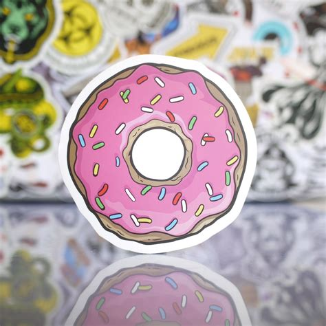 donut doughnut   simpsons sticker