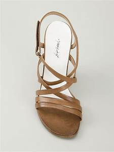 Lyst - Marsèll Strappy Chunky Heel Sandals in Brown