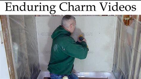 preparing a shower or bathtub area for tile