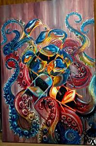 Image Gallery octopus painting
