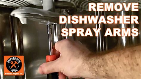 dishwasher  cleaning   remove spray arms  home repair tutor youtube