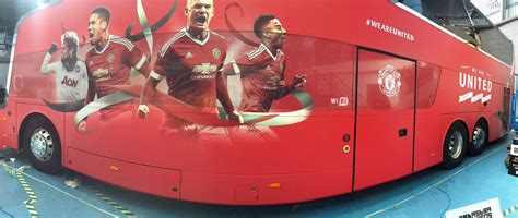 manchester united unveil special fa cup final team bus