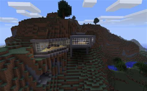 building a house ideas minecraft building ideas modern house built into the mountain minecraft pinterest