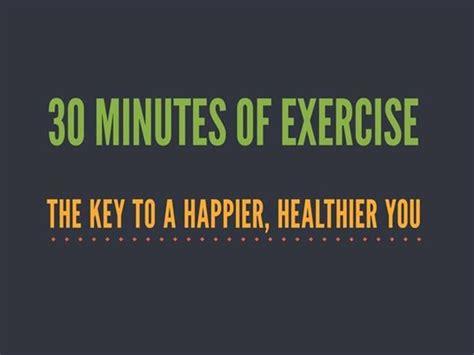30 Minutes Of Exercise Authorstream