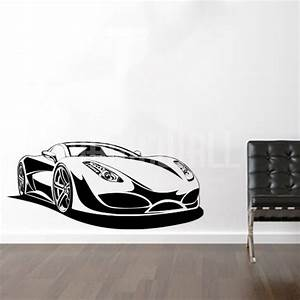 Wall decals sport car wall stickers for Car wall decals