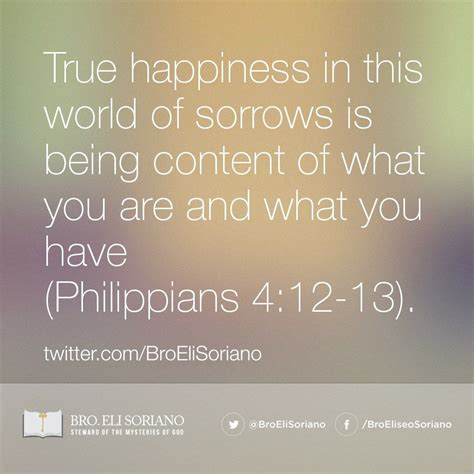 true happiness   world  sorrows   content
