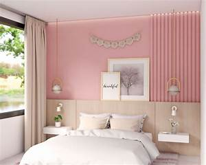 10, gorgeous, pink, accent, wall, ideas, for, bedroom, and, living, room