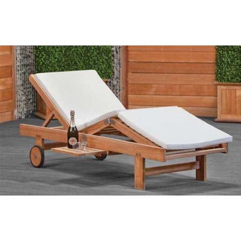 chaise plage chaise longue de jardin ou plage en teck wembley imprégné