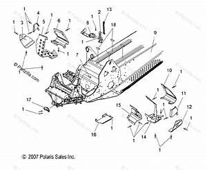 Polaris Snowmobile 2008 Oem Parts Diagram For Chassis