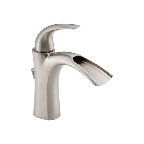 one hole sink faucet delta 15708lf ss nyla stainless 1 handle single hole
