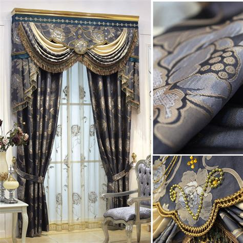 customized curtains in black gray