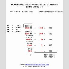 How To Do Long Division With 4 Digit Numbers Boxfirepress