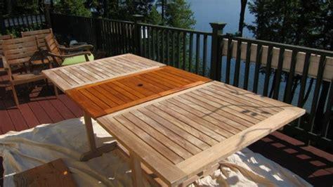 restoring  weathered teak table