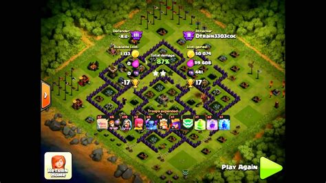 Modified Gowipe Attack by Clash Of Clans Gowipe Attack Strategy For Th9