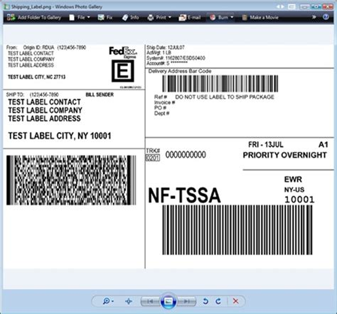 Fedex Label Template Word by Shipping Apis Fedex