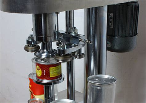 cans sealing machine semi automatic  stationary   rotary pet paper metal cans sealer