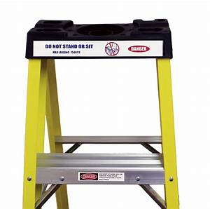 Heavy Duty Electricians Fibreglass Step Ladder 4 Tread