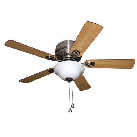 44 ceiling fan with light shop harbor breeze mayfield 44 in brushed nickel flush