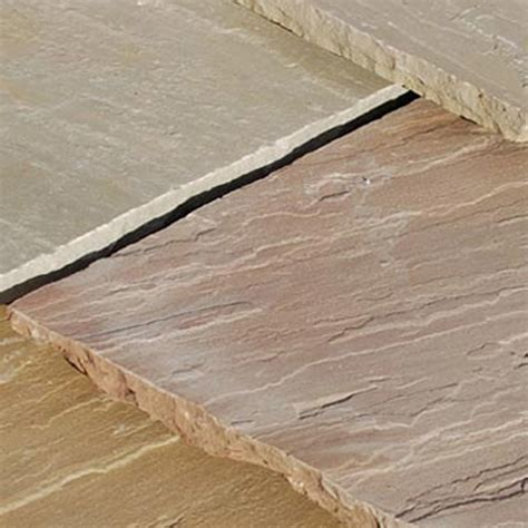 global stone paving riven sandstone autumn blend paving