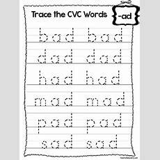 27 Trace The Cvc Words Worksheets Preschool And Kindergarten Word Families