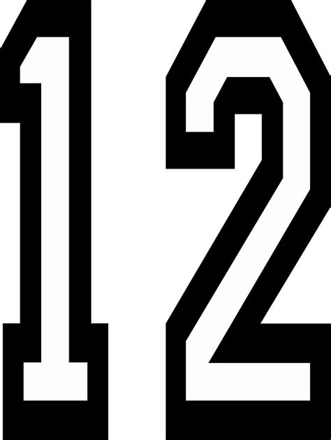 quot 12 team sports number 12 twelve twelfth competition quot stickers by tom hill designer